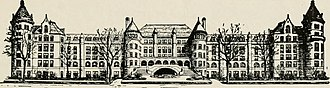 American Museum of Natural History - Drawing of the AMNH south façade