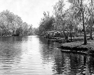 Pork Chop Gang - The Aucilla River, showing Horne's fish camp