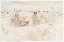 The Battle of Egypt- a New Zealand Battery in Action Art.IWMARTLD2546.jpg