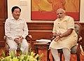 The Chief Minister of Sikkim, Shri Pawan Chamling calling on the Prime Minister, Shri Narendra Modi, in New Delhi on June 09, 2014.jpg