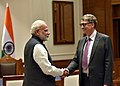 The Co-Chairman of the Bill & Melinda Gates Foundation, Mr. Bill Gates calls on the Prime Minister, Shri Narendra Modi, in New Delhi on November 16, 2016.jpg