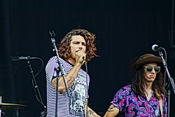 Brooks and Anthony of The Growlers playing at Lollapalooza 2012
