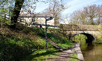 Salwick - Image: The Hand and Dagger alongside the Lancaster Canal. Photograph by Brian Young 2011