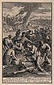 The Israelites struck by plague whilst eating quails. Engrav Wellcome V0010568.jpg