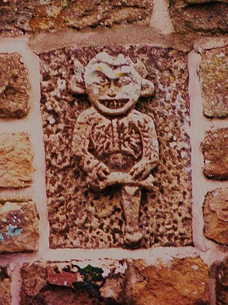 Lincoln Imp - A carving of the Lincoln Imp on a house in Farndale, North Yorkshire