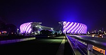 The Main Stadium of the Haixia Olympic Sports Center 20180226Night.jpg
