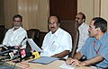 The Minister of State for Agriculture, Consumer Affairs, Food & Public Distribution, Prof. K.V. Thomas briefing the press, in New Delhi on June 17, 2010 (1).jpg