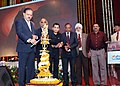 The Minister of State for Defence, Dr. Subhash Ramrao Bhamre lighting the lamp at the Public Private Partnership (PPP) Summit, under Make-in-India, at Hindustan Aeronautics Limited, Nashik, Maharashtra on December 09, 2017.jpg