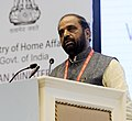 The Minister of State for Home Affairs, Shri Hansraj Gangaram Ahir addressing at the closing ceremony of the Asian Ministerial Conference for Disaster Risk Reduction (AMCDRR) 2016, in New Delhi on November 05, 2016.jpg