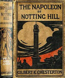g k chesterton bibliography  cover of the napoleon of notting hill chesterton