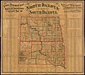 The National Publishing Company's new railroad, post-office and county map of North Dakota and South Dakota - with complete index of all post-offices and railroad stations, giving populations and (10841202634).jpg