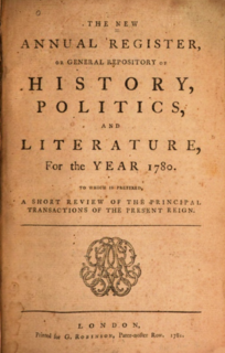 New Annual Register annual reference work (Paternoster-Row, London : G.G.J. & J. Robinson, 1780-1825)