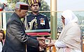 The President, Shri Ram Nath Kovind giving away the gallantry award Ashoka Chakra to 12974389N Lance Naik, Nazir Ahmad Wani, Bar to Sena Medal, the J&K Light Infantry, 34th Battalion the Rashtriya Rifles (Posthumously) - wide crop.jpg