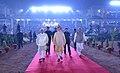 The Prime Minister, Shri Narendra Modi arrives at Haryana Swarna Jayanti Celebrations, in Gurugram, Haryana.jpg