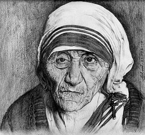 This is the portrait of Mother Teresa
