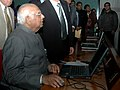 The Speaker, Lok Sabha, Shri Somnath Chatterjee launching the Hindi Website of Lok Sabha, in New Delhi on January 07, 2009.jpg