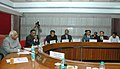 The Speaker, Lok Sabha, Shri Somnath Chatterjee meeting with the Trainees of the 23rd International Training and Programme in Legislative Drafting at the Parliament House, in New Delhi on February 21, 2008.jpg