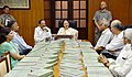 The Speaker, Lok Sabha, Smt. Sumitra Mahajan addressing at the presentation of the 100 Volume of 'The Collected Works of Mahatma Gandhi', published by the Publication Division for Parliament Library, in New Delhi.jpg