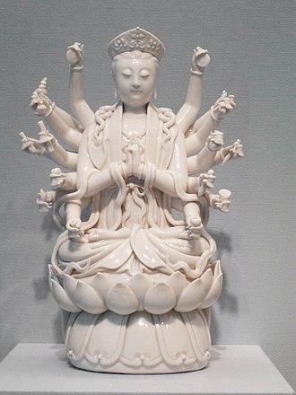 Doumu - Qing dynasty porcelain statue of Doumu, dated between 1700–1800.