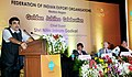 """The Union Minister for Road Transport & Highways and Shipping, Shri Nitin Gadkari addressing at the Golden Jubilee Celebration of Federation of Indian Export Organisations"""" (FIEO), in Mumbai on April 18, 2016.jpg"""