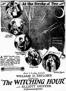 <i>The Witching Hour</i> (1921 film) 1921 film by William Desmond Taylor
