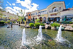 The fountains at The Commons at Calabasas