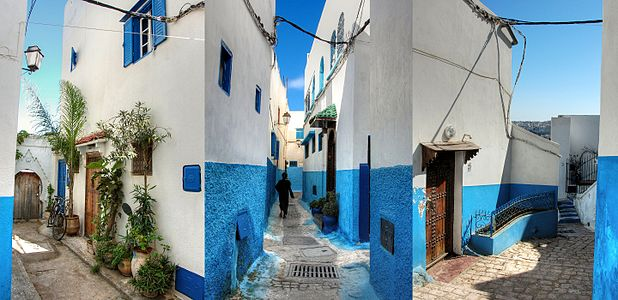 The streets inside the Kasbah of the Udayas, Rabat, Morocco.jpg