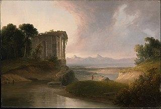 Romantic Landscape with a Temple