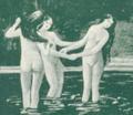 Three Women Bathing - Hungarian Postcard.png