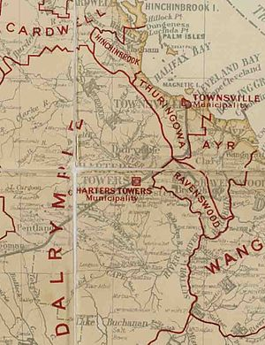 City of Thuringowa - Map of Thuringowa Division and adjacent local government areas, March 1902