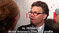 Al Franken at the 2006 Time 100, as covered on the blog Rocketboom.