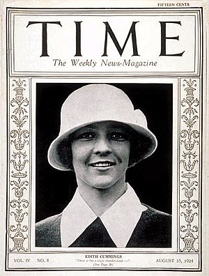 Edith Cummings - Edith Cummings was the first woman athlete to appear on the cover of Time magazine, a major step in women's athletic history.