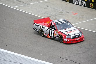 Red Horse Racing - Timothy Peters driving the No. 17 truck at Rockingham Speedway