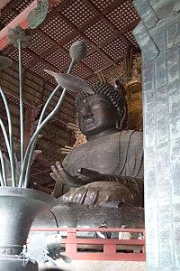 The colossal statue of Vairocana at Todaiji in Nara