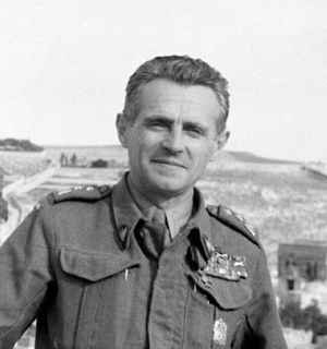 Michał Karaszewicz-Tokarzewski - Michał Tokarzewski as the second in command of the Anders Army while in Jerusalem during World War II.