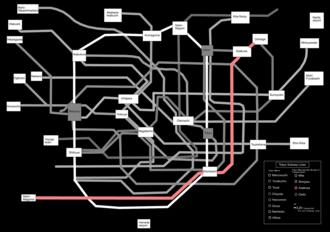 Toei Asakusa Line - Image: Tokyo subway map black fixed grey asakusa