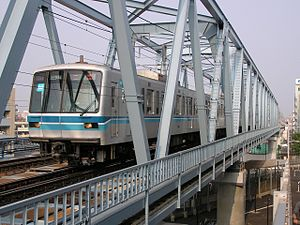 Tokyo Metro 05 series - 05-114 with wide doors and GTO-VVVF system