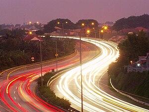 Jakarta–Serpong Toll Road - Bintaro-BSD Toll Road at Dusk