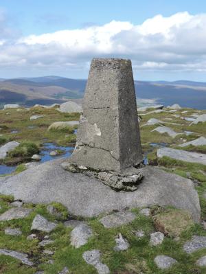 Tonelagee - Summit pillar