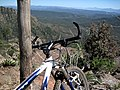 Took a bike ride on Forest Road 218 along the Mogollon Rim, far enough to get out to the edge for a view. (4718750415).jpg