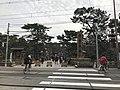 Torii of Sumiyoshi Grand Shrine and Hankai Railway Hankai Line 2.jpg