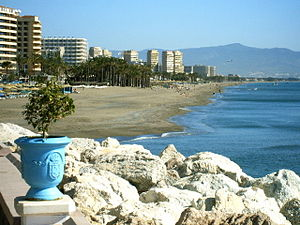 Deutsch: Playa de Torremolinos. Español: Playa...