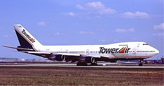 Tower Air - A Boeing 747–200 in Tower Air's livery.