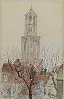 Tower of the Cathedral of Utrecht, Holland SAAM-1962.13.24 1.jpg