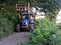 Tractor in lane next to Haydon Common, near Kenton - geograph.org.uk - 952167.jpg