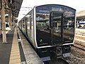 Train for Hizen-Hama Station at Tosu Station 2.jpg