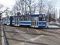 Tram 141 at J. Poska - Narva maantee Junction Kadriorg Tallinn 2 March 2016.jpg
