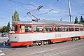 Tram in Sofia in front of Tram depot Banishora 015.jpg