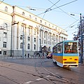 Tram in Sofia near Palace of Justice 2012 PD 031.jpg