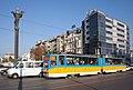 Tram in Sofia near Sofia statue 2012 PD 055.jpg